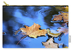 Carry-all Pouch featuring the photograph Floating On The Reflected Sky by Doris Potter