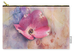 Floating Pink Bloom Carry-all Pouch by Toni Hopper
