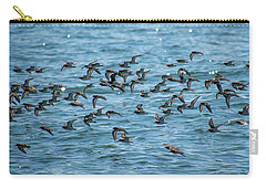 Carry-all Pouch featuring the photograph Flock Of Birds by Trace Kittrell