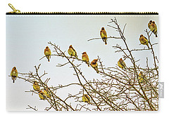 Flock Of Cedar Waxwings  Carry-all Pouch by Geraldine Scull