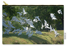 Flock Of Egrets In Flight Carry-all Pouch