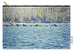 Flock Of Geese Carry-all Pouch by Janie Johnson