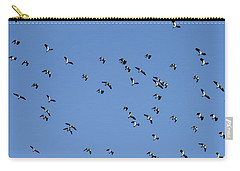 Flock Of Migratory Lapwing Birds In Clear Winter Sky Carry-all Pouch
