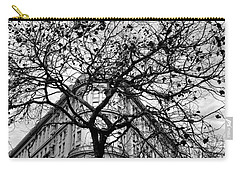 Flood Building - San Francisco - Corner Tree View Black And White Carry-all Pouch