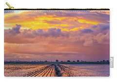 Flooded Field At Sunset Carry-all Pouch
