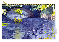 Carry-all Pouch featuring the painting Floods by Anil Nene