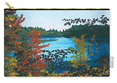 Carry-all Pouch featuring the painting Floodwood by Lynne Reichhart