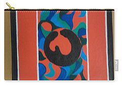 Floor Cloth E - Sold Carry-all Pouch by Judith Espinoza