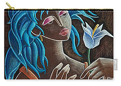 Flor Y Viento Carry-all Pouch by Oscar Ortiz