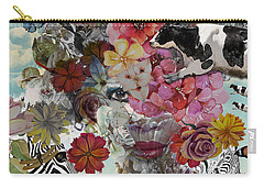 Carry-all Pouch featuring the digital art Flora And Fauna by Nola Lee Kelsey