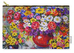 Floral Abundance Carry-all Pouch