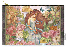Floral Angel Glamorous Botanical Carry-all Pouch