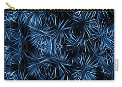 Floral Blue Abstract Carry-all Pouch by David Dehner