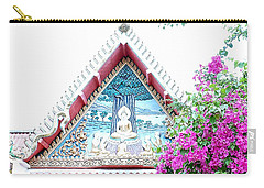 Floral Buddha Carry-all Pouch