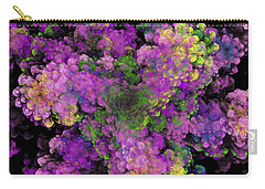 Carry-all Pouch featuring the digital art Floral Fancy Abstract by Andee Design