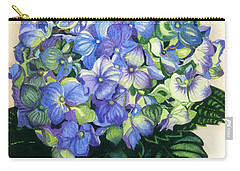 Carry-all Pouch featuring the painting Floral Favorite by Barbara Jewell