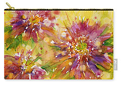 Floral Fireworks Carry-all Pouch by Judith Levins