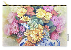Carry-all Pouch featuring the painting Floral Fusion by Marlene Book