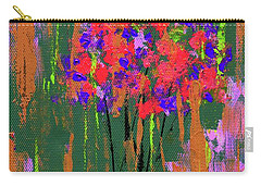 Floral Impresions Carry-all Pouch by P J Lewis