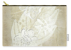 Carry-all Pouch featuring the digital art Floral Imprints by Judy Hall-Folde