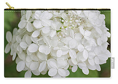 Floral In White Carry-all Pouch