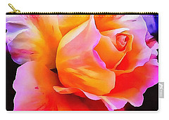 Floral Interior Design Thick Paint Carry-all Pouch by Catherine Lott