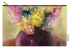 Carry-all Pouch featuring the painting Floral Oil Sketch by Marlene Book