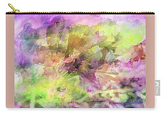 Floral Pastel Abstract Carry-all Pouch by Mikki Cucuzzo