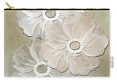 Carry-all Pouch featuring the digital art Floral Pattern by Judy Hall-Folde