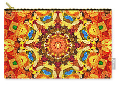 Mandala Of The Sun Carry-all Pouch by Anton Kalinichev