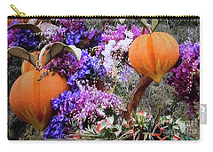 Floral Peaches Carry-all Pouch