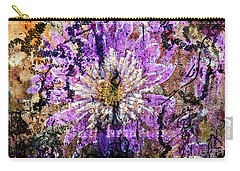 Floral Poetry Of Time Carry-all Pouch