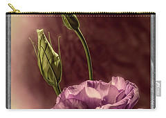 Floral Polaroid Transfer Carry-all Pouch by Garry McMichael