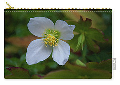 Carry-all Pouch featuring the painting Floral Print 096 by Chris Flees