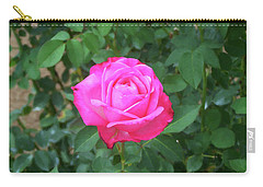 Carry-all Pouch featuring the painting Floral Print 100 by Chris Flees