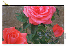 Carry-all Pouch featuring the painting Floral Print 103 by Chris Flees