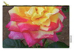 Carry-all Pouch featuring the painting Floral Print 104 by Chris Flees