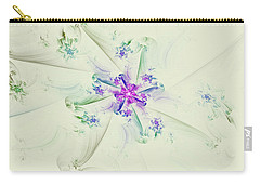 Carry-all Pouch featuring the digital art Floral Spiral by Deborah Benoit