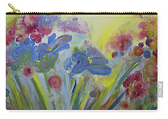 Carry-all Pouch featuring the painting Floral Splendor by Stacey Zimmerman