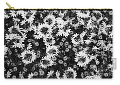 Floral Texture In Black And White Carry-all Pouch