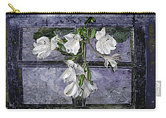 Carry-all Pouch featuring the photograph Floral Window Frame by Bonnie Willis