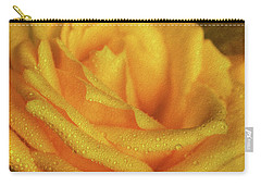 Carry-all Pouch featuring the photograph Floral Yellow Rose Blossom by Shelley Neff