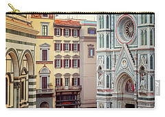 Carry-all Pouch featuring the photograph Florence Italy View by Joan Carroll