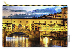 Florence - Ponte Vecchio Sunset From The Oltrarno - Vintage Version Carry-all Pouch