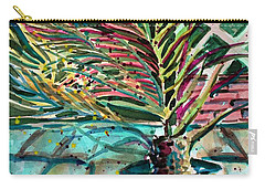 Carry-all Pouch featuring the painting Florescent Palm by Mindy Newman