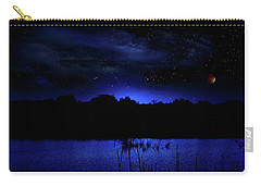 Florida Everglades Lunar Eclipse Carry-all Pouch by Mark Andrew Thomas