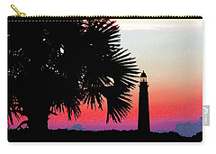 Florida Lighthouse Sunset Silhouette Carry-all Pouch