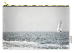 Florida Rustic Sailboat Ocean Landscape Carry-all Pouch by Andrea Hazel Ihlefeld