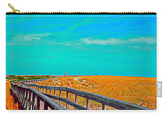 Carry-all Pouch featuring the photograph Florida Sand Dunes Atlantic New Smyrna Beach by Tom Jelen