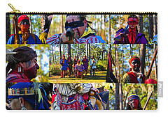 Carry-all Pouch featuring the photograph Florida Seminole Indian Warriors Circa 1800s by David Lee Thompson